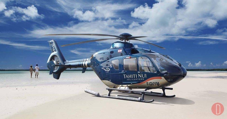 elicottero in Polinesia Francese