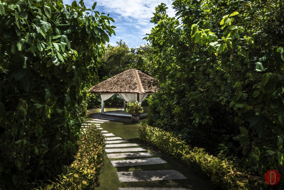 Amanpulo, Philippines – Clubhouse, Garden