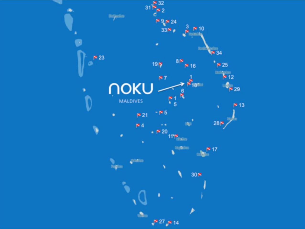 Noku Maldive Diving Sites