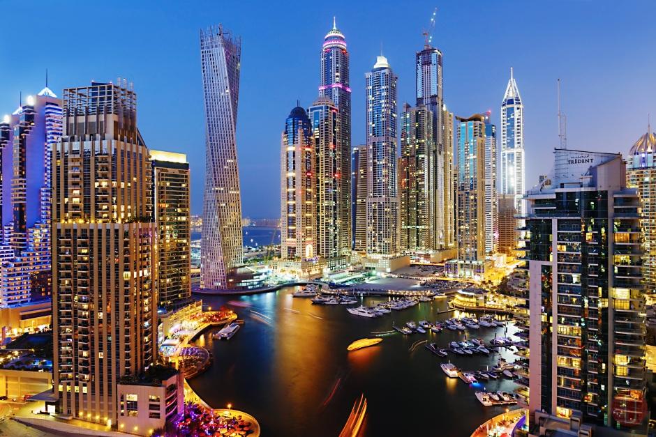 Dubai,Marina by Night