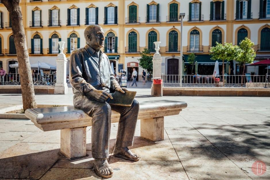 Mlaga Pablo Picasso Bronze Statue