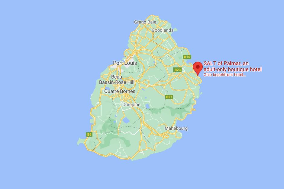 SALT - Mauritius Map