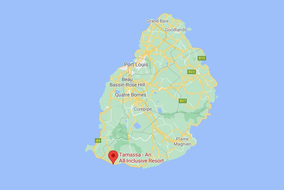 Tamassa Bel Ombre map
